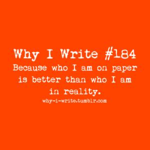 why I write 2