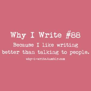 why I write 6